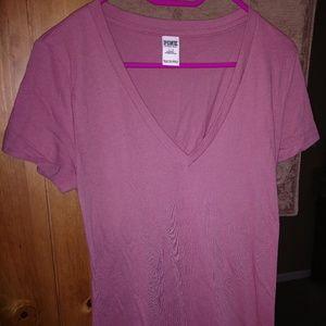 Victorias Secret Pink V Neck T Shirt